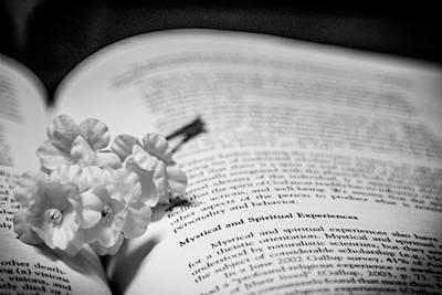 Book Flower Photograph - Mystical by Hyuntae Kim