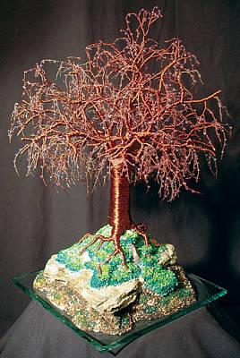 Tr Mixed Media - Mystical Island - Wire Tree Sculpture by Sal Villano