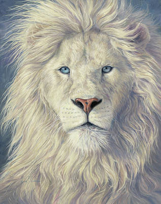 Lion Painting - Mystical King by Lucie Bilodeau