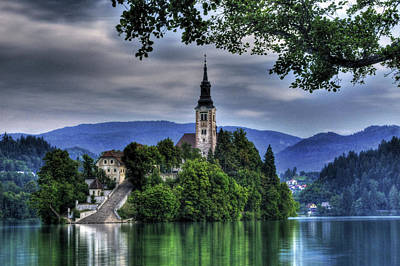 Mystical Lake Bled Art Print