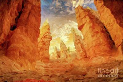Mystical Landscape By Sarah Kirk Art Print