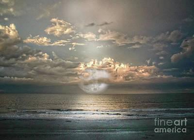 Photograph - Mystical Moom by Judy Hall-Folde