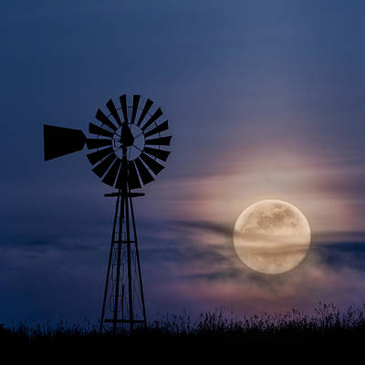 Photograph - Mystical Moon Square by Bill Wakeley