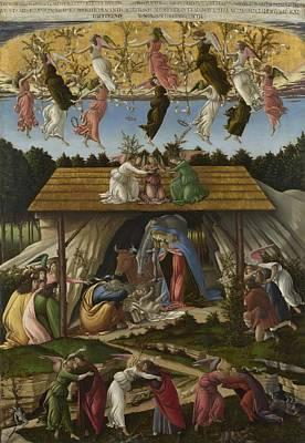 Mystical Landscape Painting - Mystical Nativity by Sandro Botticelli