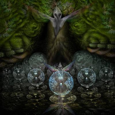 Cavern Digital Art - Spirit In The Woods by Vincent Autenrieb