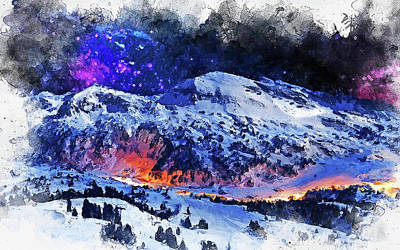 Painting - Mystical Night - 01 by Andrea Mazzocchetti