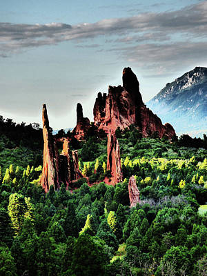 Photograph - Mystical Peaks Garden Of The Gods by Alan Socolik