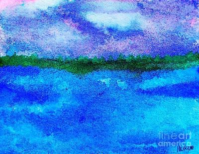 Abstract Seascape Digital Art - Mystical Sky by Marsha Heiken