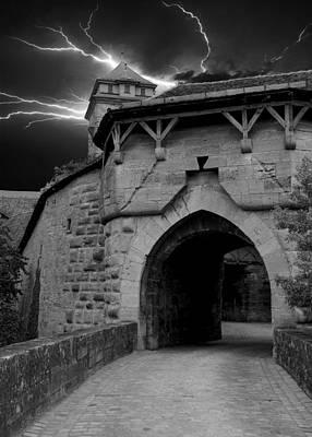 Digital Art - Mystical Spitalbastei Town Gate by Anthony Dezenzio