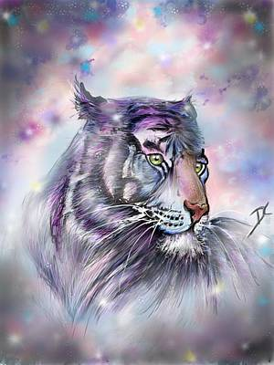 Digital Art - Mystical Tiger by Darren Cannell
