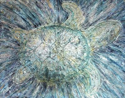 Mystical Sea Turtle Art Print
