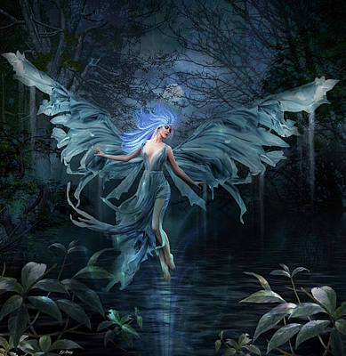 Erotica Mixed Media - Mystical Water Fairy by G Berry