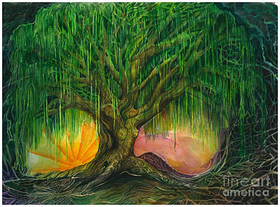 Web Of Life Painting - Mystical Willow by Colleen Koziara