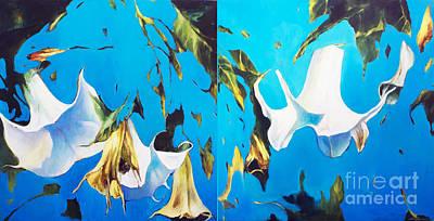 Lin Painting - Mysticoblue by Lin Petershagen