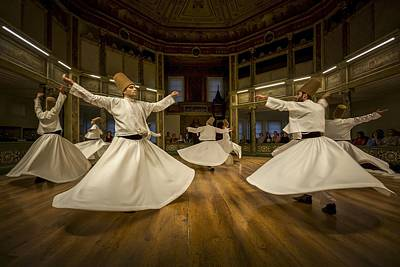 Dervish Photograph - Mystics Dancers by Walde Jansky