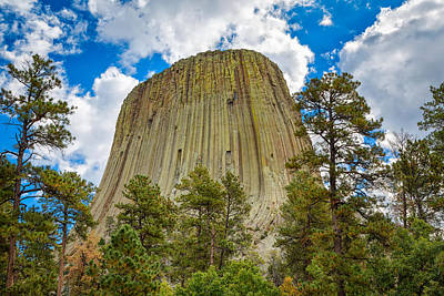 Photograph - Mystifying Devils Tower by John M Bailey