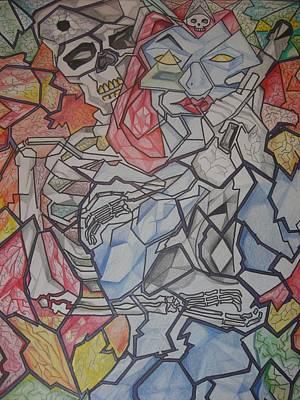 Mystique Drawing - Mystique Cubism by Ignacio Zamora