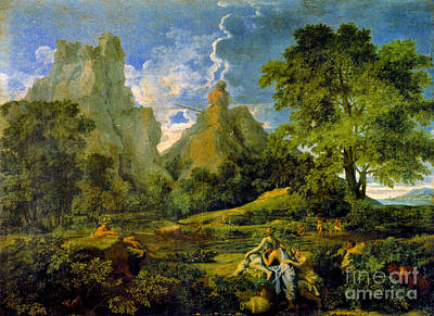 Photograph - Mythological Landscape 1649 by Padre Art
