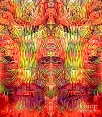 Mixed Media - Mythology _ Transfering Power by Fania Simon