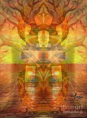 Mixed Media - Mythology- The Living Tree by Fania Simon