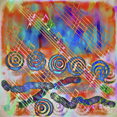 Digital Art - Musical Doodle by Deborah Benoit