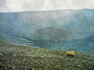Digital Art - Myvatn Mooncrater by Frans Blok