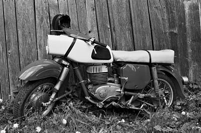 Speed Trials Photograph - Mz Motorcycle Bw by Ivan Slosar