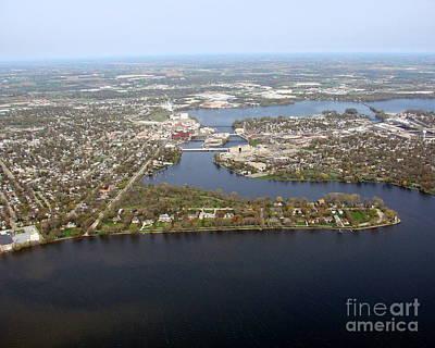 Photograph - N-002 Neenah Wisconsin Lake And Harbor by Bill Lang