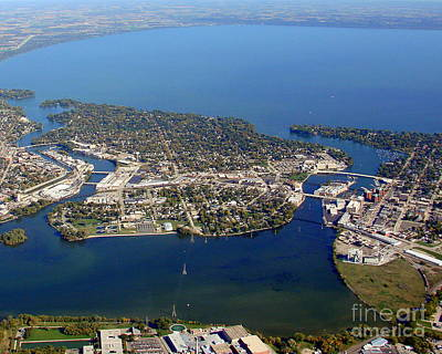 Photograph - N-003 Neenah Wisconsin Lake Winnebago by Bill Lang
