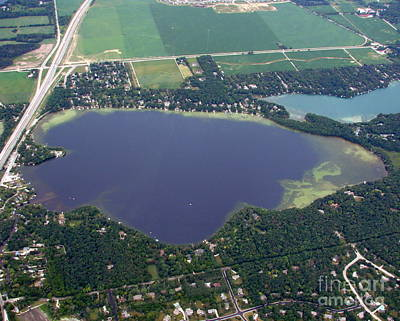 Photograph - N-009 Nemhabin Lake Upper Waukesha County by Bill Lang