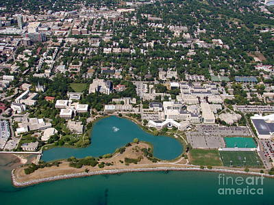 Photograph - N-011 Northwestern University Chicago Illinois by Bill Lang