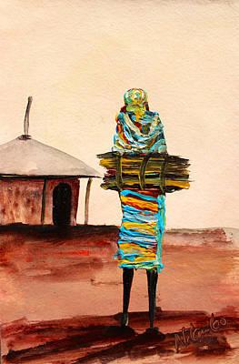 Painting - N 104 by John Ndambo