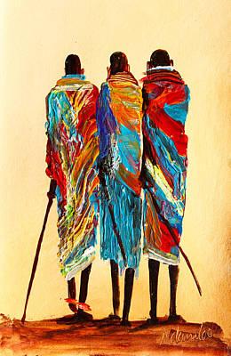 Painting - N 106 by John Ndambo
