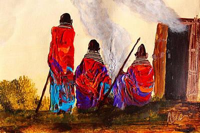 Painting - N 111 by John Ndambo