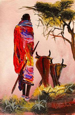Painting - N 112 by John Ndambo