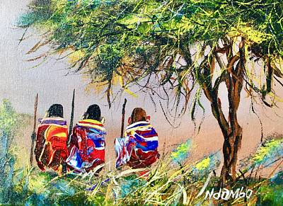 Painting - N 125 by John Ndambo