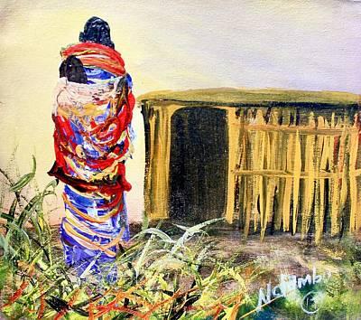 Painting - N 143 by John Ndambo