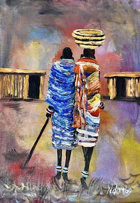 Painting - N-183 by John Ndambo