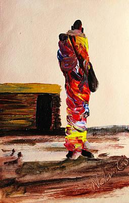 Painting - N 99 by John Ndambo
