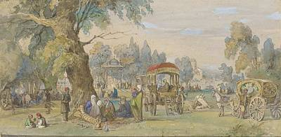 Amedeo Preziosi Painting - n a Turkish Park. by MotionAge Designs