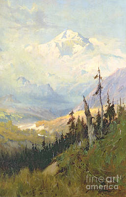 Painting - An Autumn Day, Mt Mckinley  by Sidney Laurence