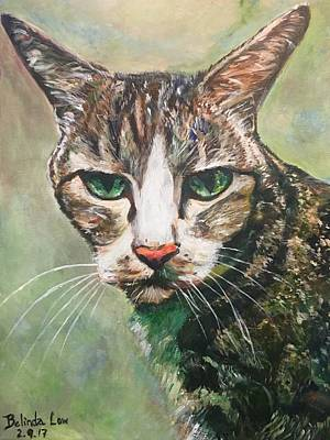 Painting - N E K O by Belinda Low
