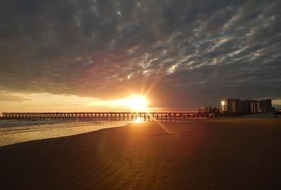 Gerald Monaco Photograph - N Myrtle Beach Sunset by Gerald Monaco