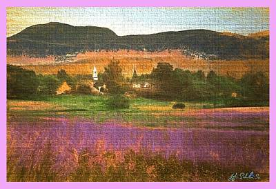 Digital Art - N. Troy Vt. by John Selmer Sr