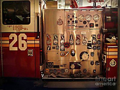 Photograph - N Y C Fire Engine Digits And Dials by Miriam Danar