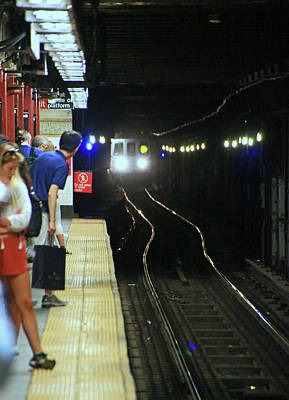 Photograph - N Y C Subway Scene # 1 by Allen Beatty