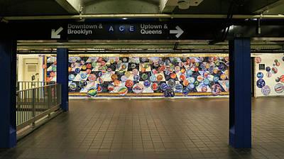 Photograph - N Y C Subway Scene # 11 by Allen Beatty