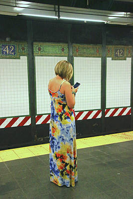 Photograph - N Y C Subway Scene # 12 by Allen Beatty