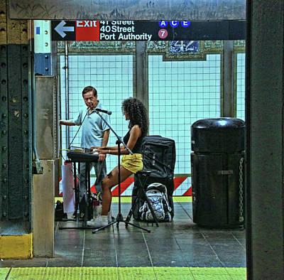 Photograph - N Y C Subway Scene # 13 by Allen Beatty