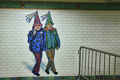 Photograph - N Y C Subway Scene # 14 by Allen Beatty